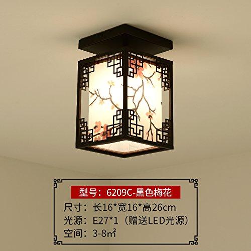 BCC Deckenleuchte im Verkehrskorridor LED modernes Schlafzimmer Deckenleuchte foyer Licht, 6209 - einem Kopf Decke schwarze Kreuzschlitz-Maschinenschraube
