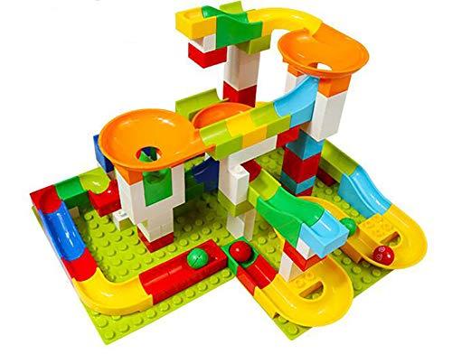 CSCR Bausteine für Kinder, Weihnachten Geschenk für 3-jährige Kinder DIY Rutschen Ball Puzzle-Spiel EIN kompletter Satz von 52 Teilen