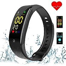 COOLHILLS Pulsera Actividad Pulsómetro Impermeable Pulsera Inteligente con Monitor de Ritmo Cardíaco Monitor de Actividad Bluetooth