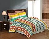 Bombay Dyeing Caelina Printed Double Bedsheet Set - Poly Cotton - 254 cm x 229 cm - Multi-Colour