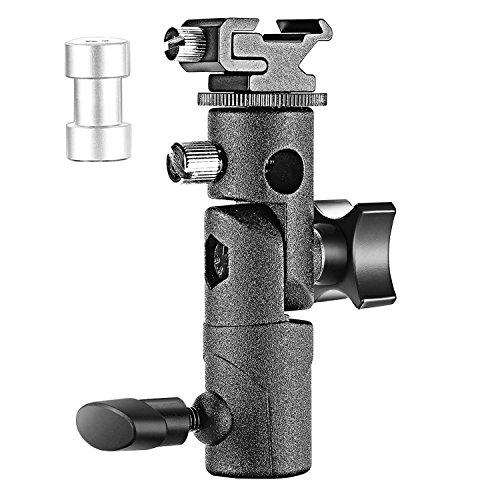 Neewer Professional E Type Universal-Kamera-Blitz Speedlite Montage Swivel Lampenstativ Halterung Schirm Schuhhalter Passend für Canon...