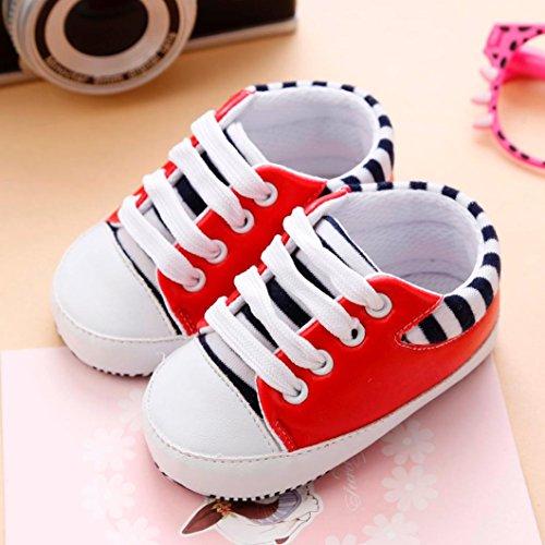 Neugeboren Infant Sole Baby Soft Paar Igemy Bandage Girls 1 Schuhe Rot Kinderbett Sneakers Anti rutsch qtfxwnES8