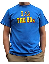 Nutees I Love 80's Fancy Dress Costume Party Funny Mens T Shirt - Royal Blue