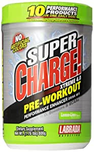 Labrada Nutrition Super Charge Xtreme 4.0 Pre Work Out Energy Drink - 1.76 lbs (Lemon)