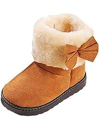 Malloom 1-6 años Botas de Moda Bowknot Invierno bebé niña Estilo algodón Bota Nieve Caliente