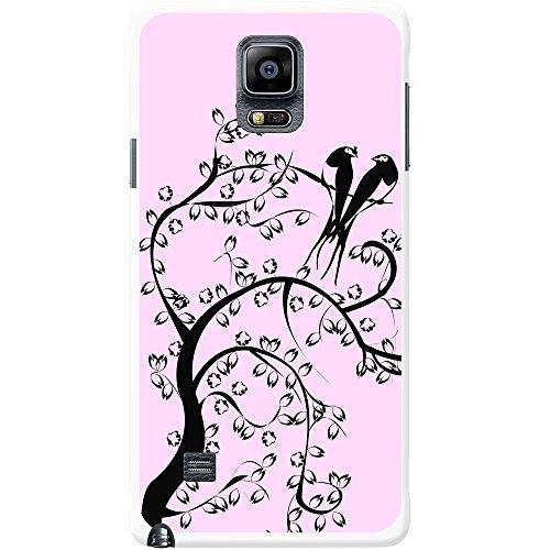 Silhouette Oiseaux De Paradis Étui rigide pour téléphone portable Rose pastel