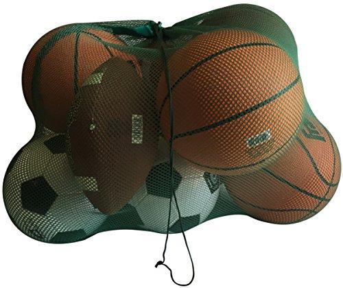 NewEarthProducts Mesh Sport Ausrüstung Tasche, Set von 2Staubbeutel (Dunkelgrün, 36x 24)