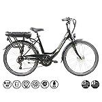 51LlySo18SL. SS150 F.lli Schiano E- Moon, Bicicletta elettrica Unisex Adulto, Nera, 26''