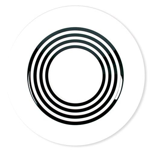 Bruno Evrard Assiette Creuse à Rayures Noir en Porcelaine 24cm - Lot de 6 - Freshness Lines
