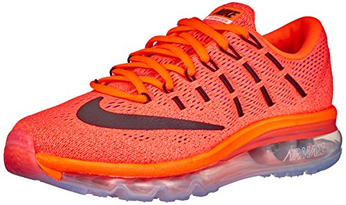 Nike Wmns Air Max 2016 Scarpe da ginnastica, Donna, Arancione (Hyper Orange / Black-sunset Glow), EU...