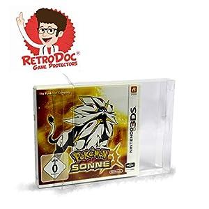 1 Klarsicht Schutzhülle für Nintendo 3DS Games in Originalverpackung – Passgenau und Glasklar – PET – Retro-Doc Game Protectors – Extra Laschen – Bessere Optik – Cases – Box