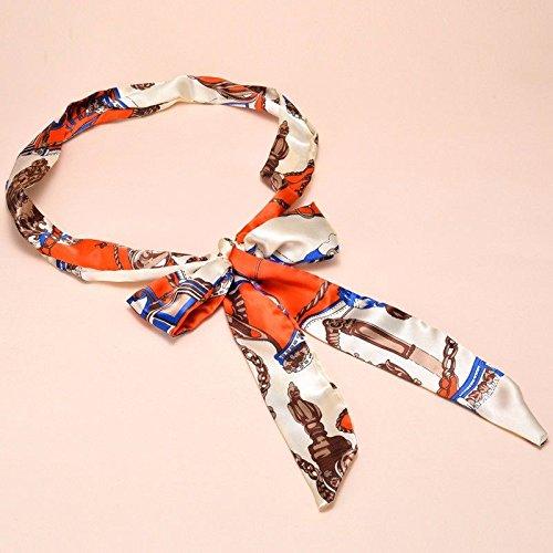 ZHAOJIANING Frauen Seidenband mit Kleid Fliege-Wide Breiter Gürtel Dekorative Schal Gürtel mit Gürtel -