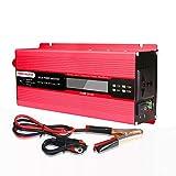 XMAGG 2000W Auto Spannungswandler, DC 12V zu AC 220V Wechselrichter mit LED Anzeige, für Auto mit USB-Ladeanschluss und Direktanschluss an Autobatterie