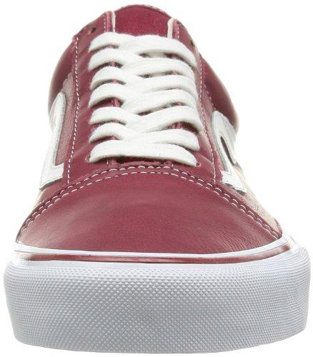 Vans Old Skool VKW65IO, Sneaker unisex adulto Rojo - Leather Tibetan Red