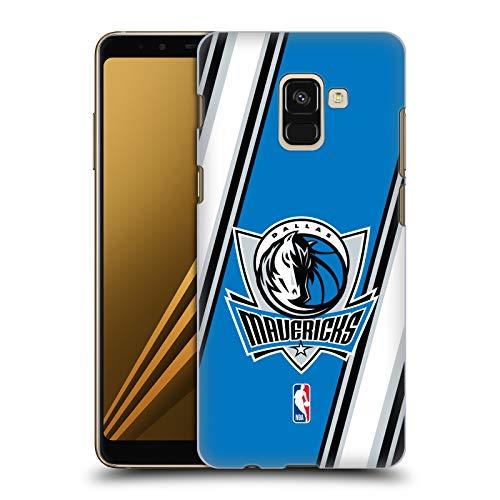 Head Case Designs Offizielle NBA Streifen Dallas Mavericks Harte Rueckseiten Huelle kompatibel mit Samsung Galaxy A8 (2018)
