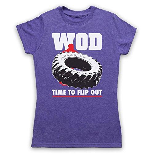 WOD Flip Out Workout Of The Day Damen T-Shirt Jahrgang Violett