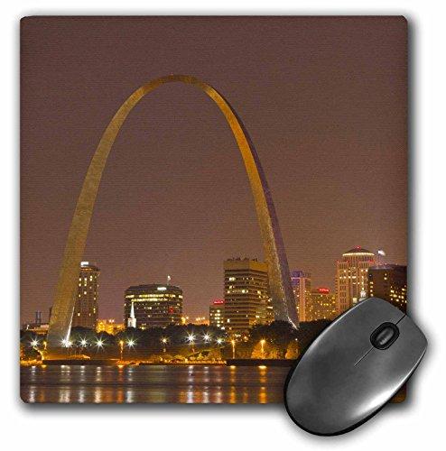 3drose LLC 20,3x 20,3x 0,6cm Maus Pad, Gateway Arch St Louis Mississippi River Missouri Chuck Haney (MP 91510_ 1) -