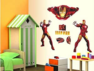 Fungoo large ironman wall sticker iron man nursery bedroom wall decal boys kid room wall art decor car decal