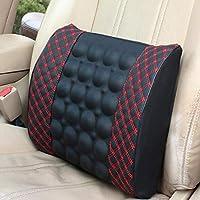 Cojín de silla de seguridad de respaldo lumbar de respaldo de automóvil de masaje eléctrico universal Soporte de cintura Soporte de cintura
