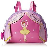 Kidorable Toddler (7 x 10 inches) Pink Ballerina, Fun Heart Zipper & 3D Embelishments Backpack