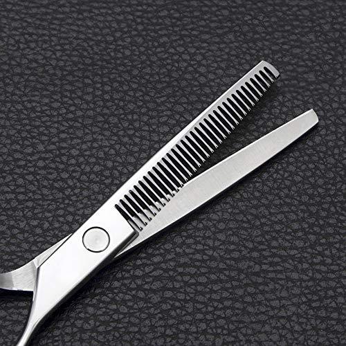 JIAJ Hair Clipper Forbici da Parrucchiere for Forbici da 6 Pollici in Acciaio Inossidabile (Colore : Silver)