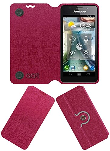 Acm Designer Rotating Flip Flap Case for Lenovo P770 Mobile Cover Pink  available at amazon for Rs.399