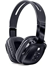 iBall Pulse BT4 Wireless Headset with Mic, Designed for Powerful Bass, Black
