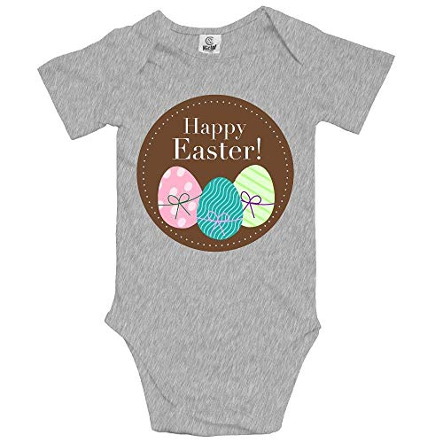 99e037c11e4 Happy Easter Short Sleeves Baby Bodysuits Outfits Infant Clothes Romper