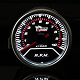 RISHIL WORLD 2 Inch 52MM Universal Red LED Tachometer Car Gauge Meter 0-10000RPM
