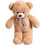 Riesen Teddybär XXL - Extraweiches Kuschelfell - Plüschbär Kuscheltier Plüschtier Stofftier Großer Teddy Kuschel Riesenteddy Bär XL - Riesen Kuschelbär XXL (60cm, Hellbraun)