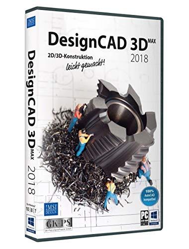 DesignCAD 3D MAX 2018 Vollversion, 1 Lizenz Windows CAD-Software