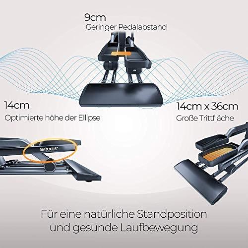 MAXXUS® CROSSTRAINER CX 6.1 – Ellipsentrainer, kostenlosem Versand. flacher, elliptischer Bewegungsablauf mit großer Schrittlänge für einen gesunden Lauf. Trainingsprogramme, HRC-Programme, Smartphone-Tablet-Halterung, elektr. gesteuerte Magnetbremse, robuste Konstruktion - 3