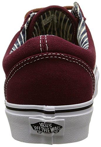 Vans Unisex-Erwachsene Old Skool Sneaker Rot (c&l/port Royale/stripe Denim)