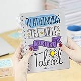 Nos pensées - Cahier A5 - Conçu avec des phrases et des dessins motivants (Tu atteindras tes buts, tu as du talent) Cadeau original pour une amie