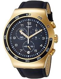 Swatch/Irony Chrono/Golden Yacht/reloj para hombre y esfera azul/caja acero y PVD dorado/correa piel