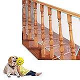 Ebeta 3M Balkon Treppen Sicherheitsnetz für Kinder Haustier, langlebig, wetterfest, für Kinder Tier Spielzeug Sicherheit für Balkon und Treppengeländer (Weiß & Blau)