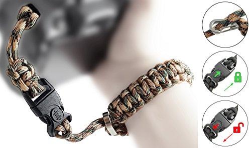 Paracord Kameraschlaufe/Klick-Verschluss mit Sperre/CAMOUFLAGE/DSLR SLR Kompakt-Kamera Handschlaufe Trageschlaufe Handgelenkschlaufe Armband Schlaufe tarn tarnfarbe//von MIND-CARE-ESSENTIALS