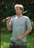 Kettenhemd, kurzarm, 9mm ID, verzinkt, Gr. L von Battle-Merchant, Mittelalter Wikinger LARP