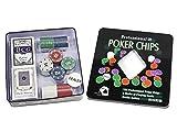 Set da poker 100 fiches con valore in euro e 2 mazzi di carte gioco texas hold'em con gettone dealer in confezione scatola A9