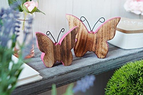 Sommerdeko: Heitmann Deco – Schmetterlinge aus Holz rosa bemalt