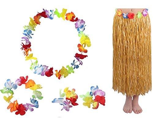 Hawaiianischen Hula Tänzer-Kostüm-Kleid-Rock-Satz für (Themen Tanz Kostüme Uk)