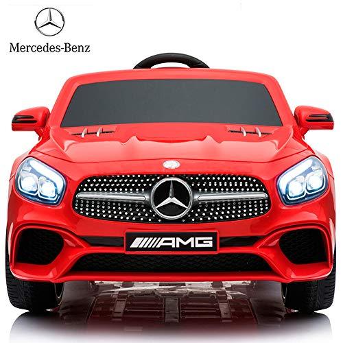 BC BABY COCHES Coche eléctrico niños 12v con Mando Mercedes SL400 (Rojo)