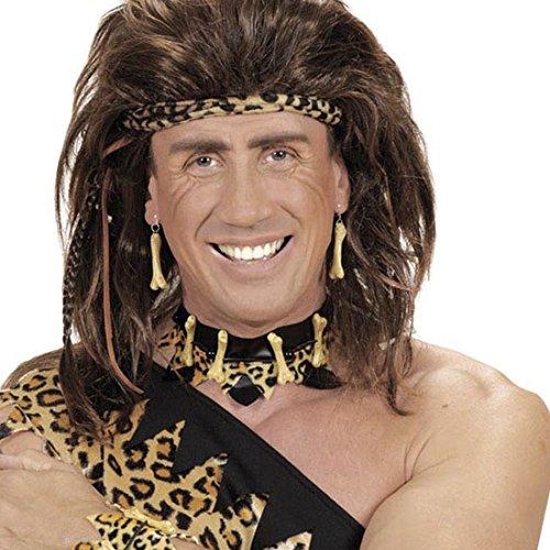 NET TOYS Knochen Halsband Leoparden Halsschmuck Neandertaler Halskette Steinzeit Kette Dschungel Schmuck Höhlenmensch Accessoire Karneval Kostüm ()