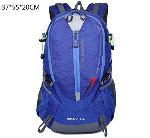 LQABW 2017 Travel Mountaineering Schulter Reit Tasche Männlichen Damen Im Freien Wasserdichten Reise Rucksack Blue