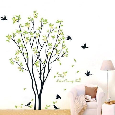 jysport Wandtattoo Familie Foto Rahmen Baum Ast & Blätter Art Wandbild entfernbare Vinyl Wand Aufkleber Schlafzimmer Wohnzimmer Dekoration, 1006