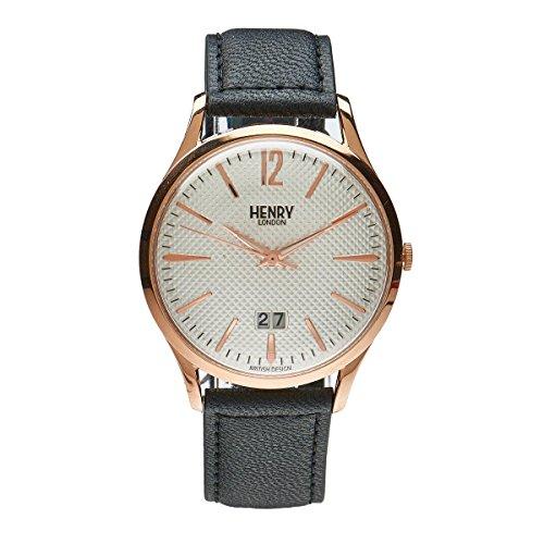 Henry London Richmond unisex orologio al quarzo con quadrante analogico al quarzo in pelle hl41JS 0038