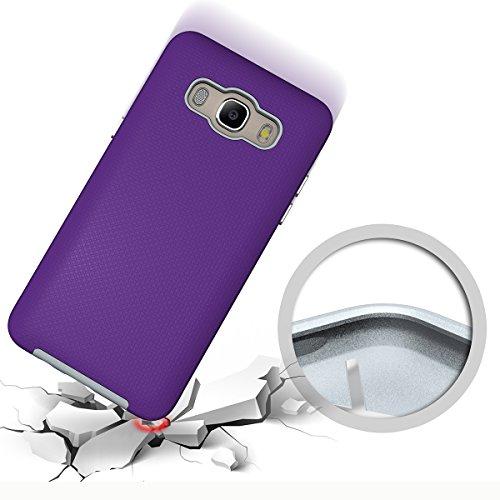 Slynmax Coque Samsung Galaxy J5 2016 Violet, Luxe Housse TPU Slim Bumper Souple Silicone Etui Housse de Soft Case Cas Couverture Anti Choc Ultra Mince Légère Coque pour Samsung Galaxy J5 2016