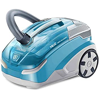 Thomas 786522 Aqua Anti Allergy Bagless Cylinder Vacuum Cleaner-Turquoise Blue/Light Grey, 486 x 31.8 x 34.7 cm