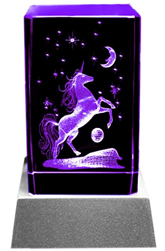 Kaltner-Prsente-Mood-Light-Glass-Block-3D-Laser-Crystal-with-LED-Lighting-Unicorn-Design