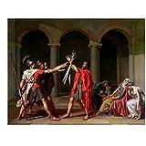 Jacques-Louis David – El juramento de los Horacios Artistica di Stampa (60,96 x 45,72 cm)